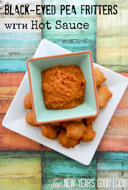 Black Eyed Pea Fritters with Hot Sauce {Akara} New Year Good Luck ...