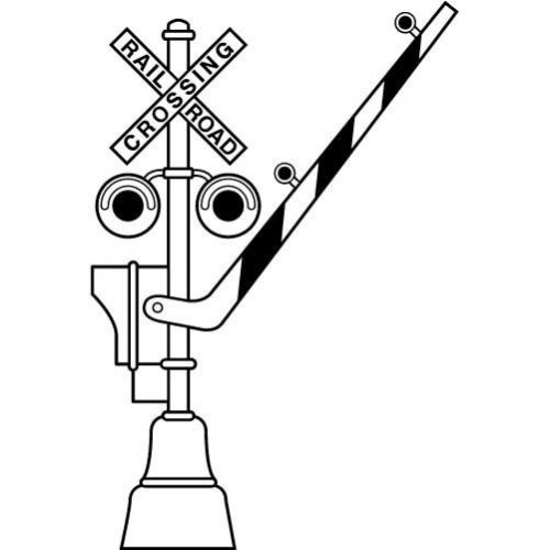 railroad crossing coloring pages - photo#3