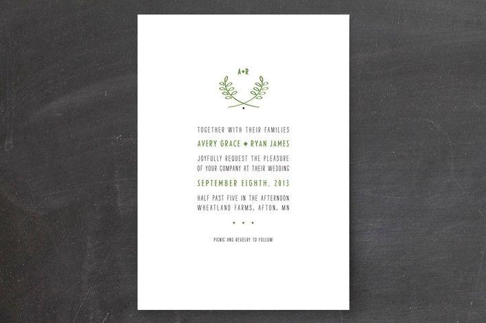 REVEL: Modern Fern Invite