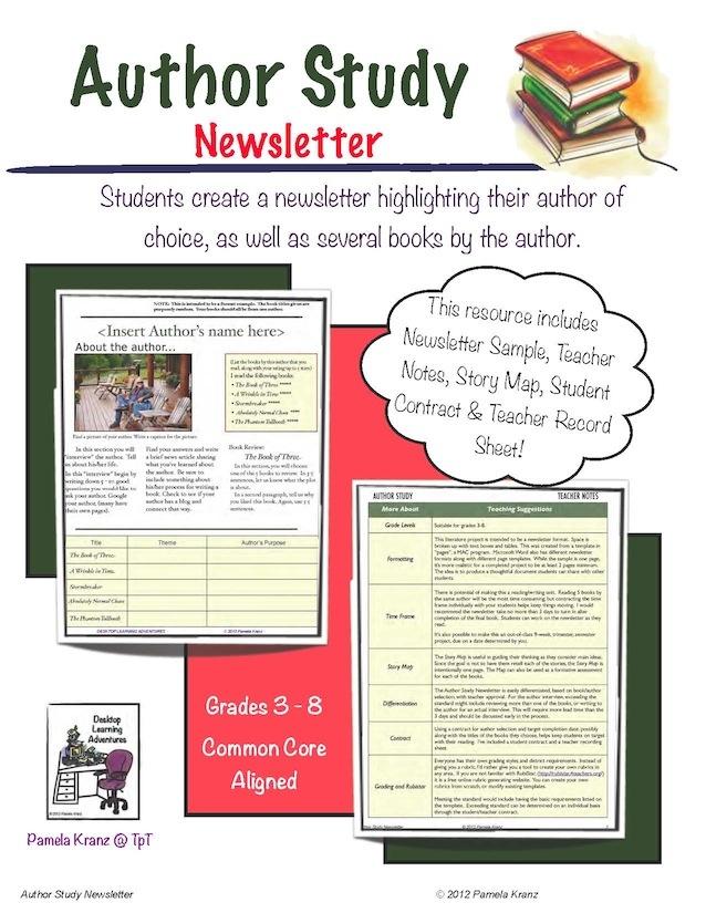 Author Study: An Overview - weissteachernotes.com