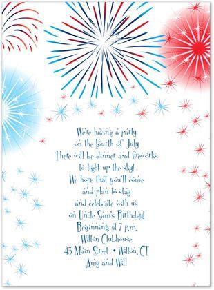 Patriotic Invitations, Extra-ordinary Fireworks, 27957