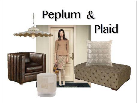 Clayton Gray Home: Peplum + Plaid
