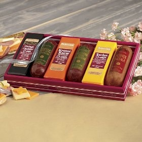 The Swiss Colony Sausage `n Cheese Bars 10-Piece Box $49.95