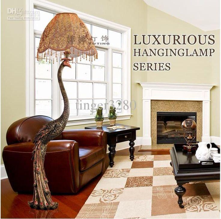 lamp floor lamp luxury european peacock villa living room floor lamp