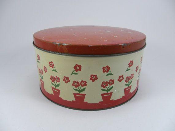 Large Vintage Cake Storage Tins
