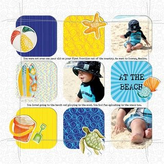 At the Beach Classic Beach #Digital #Scrapbooking Layout from Creative Memories    http://www.creativememories.com