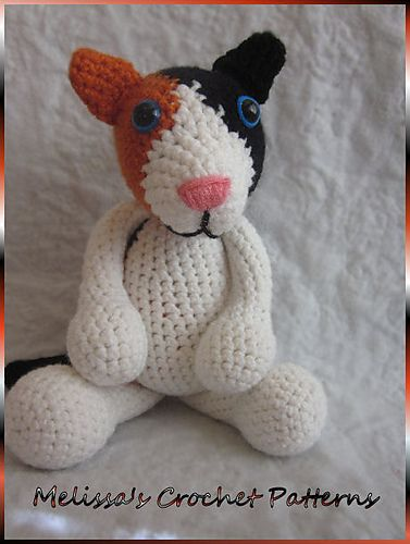 Meeow the Calico Cat pattern by Melissas Crochet Patterns