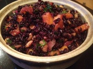 Black Rice Salad with Mango and Peanuts | Green Food | Pinterest