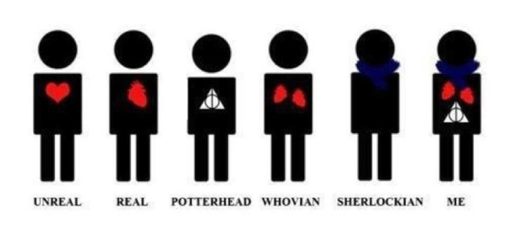 Sherlockians don't need hearts, we have scarves.