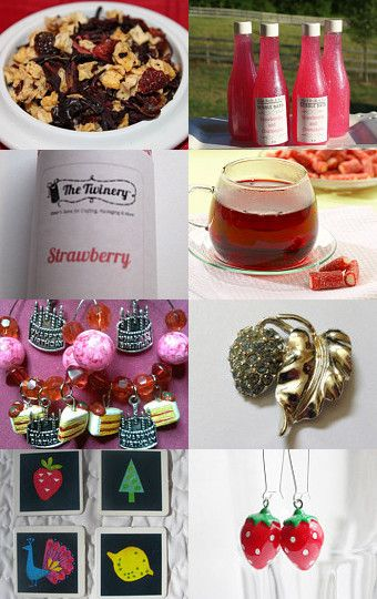 PICK STRAWBERRIES! by mama chei on Etsy--Pinned with TreasuryPin.com