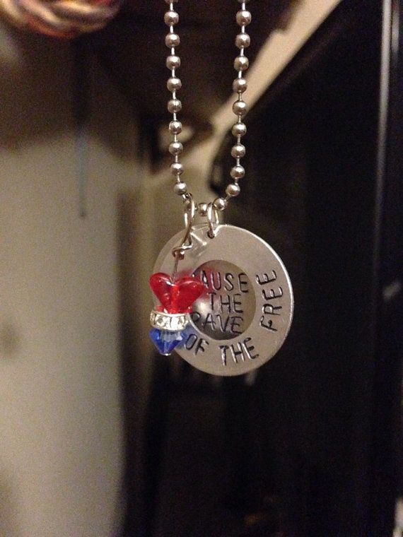 4th of july necklace craft