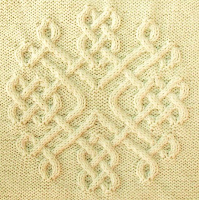 Knitted Snowflakes Pattern Free : Celtic Snowflake (#30) pattern by Devorgillas Knitting (sometimes...)