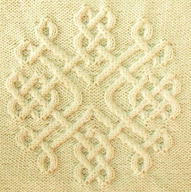 Best Scarf Knitting Patterns : Celtic Snowflake (#30) pattern by Devorgillas Knitting (sometimes...)