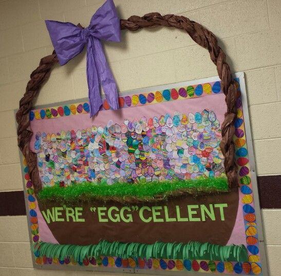 Easter bulletin board preschool ideas pinterest