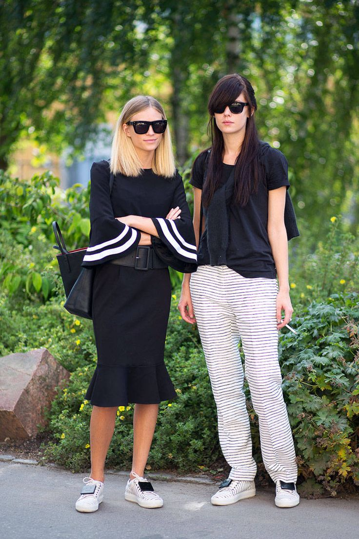 double trouble. Tine looking brilliant + 1 in Stockholm. #TheFashionEaters