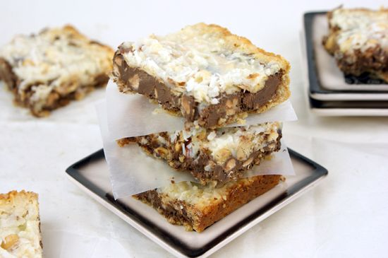 top layer of the gluten free seven layer bars gluten free 7 layer bars ...