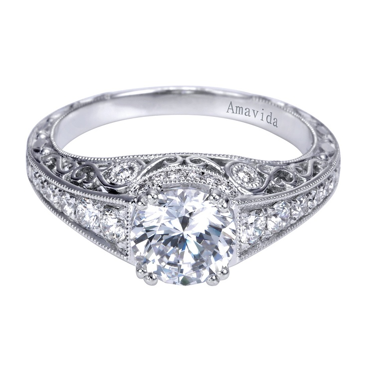 Intricate Victorian engagement ring Diamonds