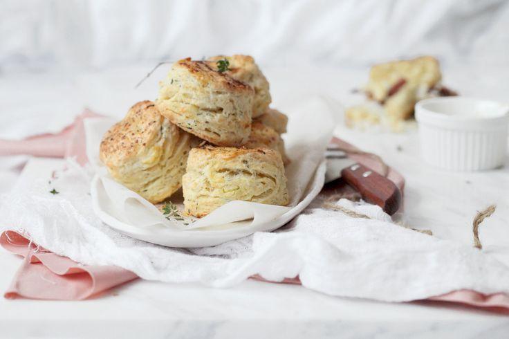 feta chive and rosemary scones | du pain | Pinterest