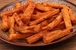 Baked Sweet Potato Sticks Recipe | Time to get FIT! | Pinterest