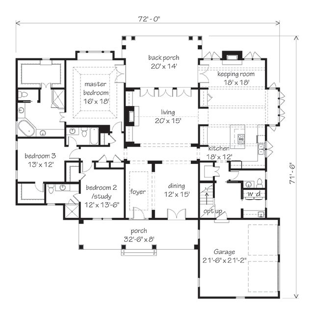 Pin by southern living on southern living house plans for Southern living house plans with keeping rooms