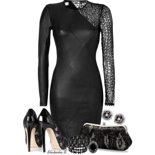 Leather & Lace, created by shakerhaallen on Polyvore
