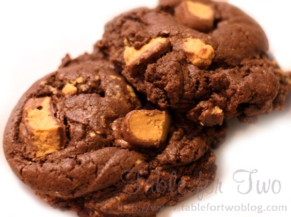 Chocolate reese's peanut butter cup cookies | Recipe