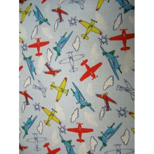 SheetWorld Fitted Crib / Toddler Sheet - Kiddie Airplanes - Made In ...