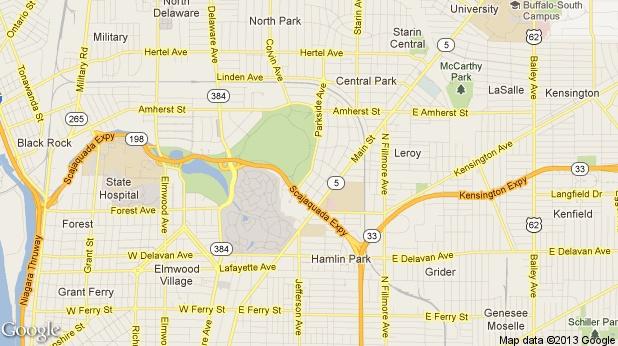 Map Of Delaware Park Buffalo NY  Buffalo New York