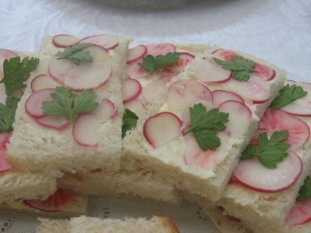 Radish, Parsley and Lemon Butter Tea Sandwiches. - Really I'm after ...