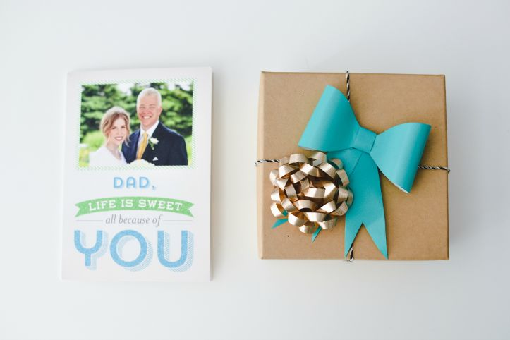 Perfect paper bow to add that extra loving touch to Dad's special gift