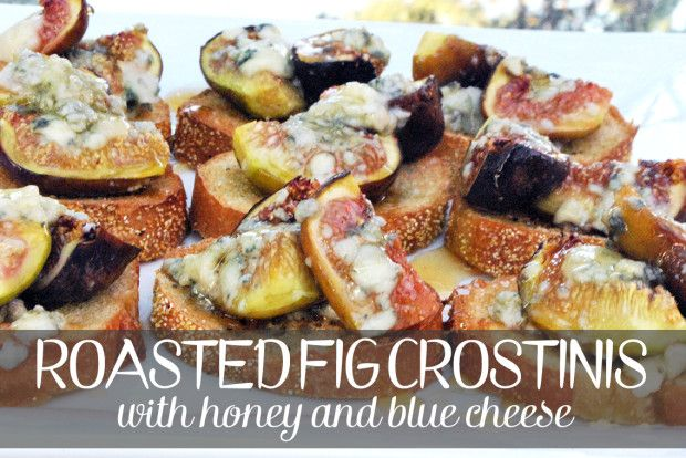 Roasted Fig Crostinis with Honey and Blue Cheese | spachethespatula ...