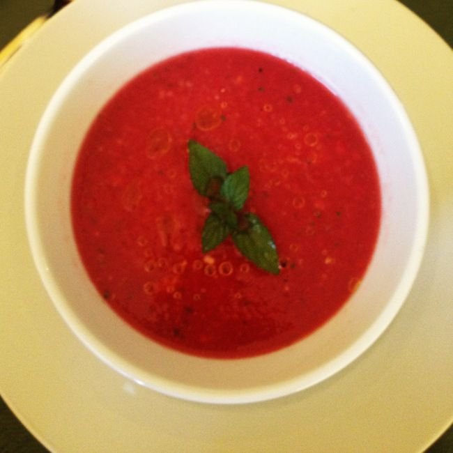 Watermelon and tomato gazpacho | Food!! | Pinterest