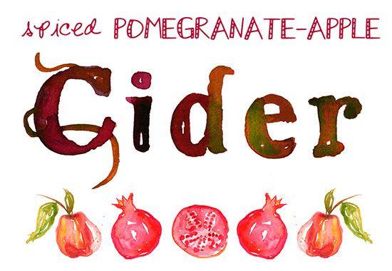Spiced Pomegranate-Apple Cider | BHG Delish Dish