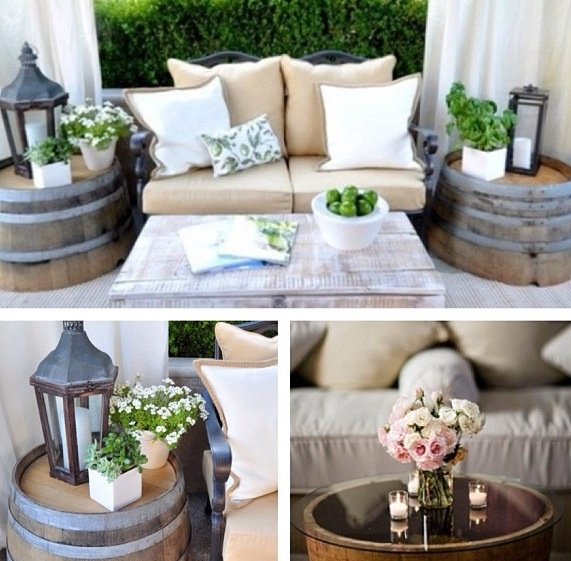 DIY barrel tables
