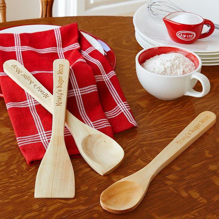 Wood Utensil Set | Personalized Gift Ideas | Pinterest: pinterest.com/pin/244038873533079202