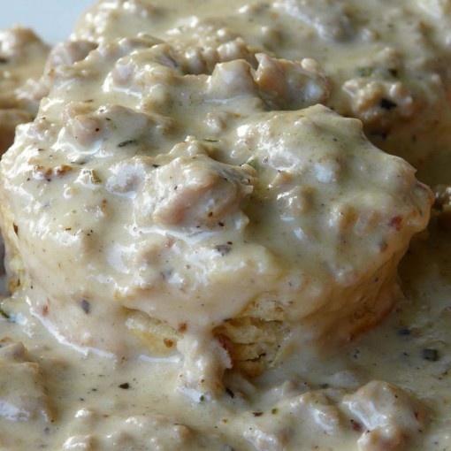 Sausage Gravy & Biscuits | Food: Breakfast | Pinterest