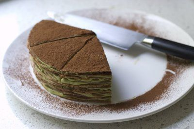 Gateau de Crepes with Green Tea Cream | Mix & Matcha | Pinterest