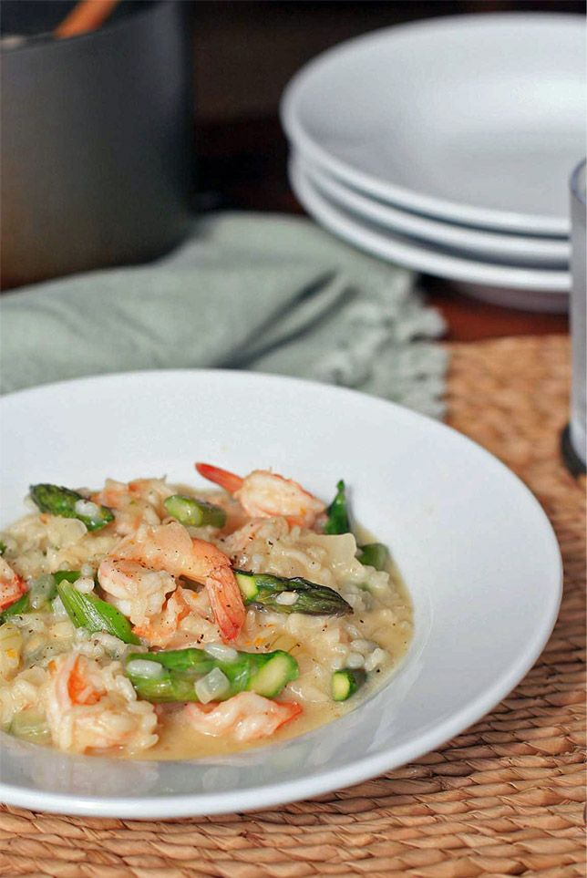 Shrimp and Asparagus Risotto | Healthy Noms | Pinterest