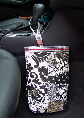 Tutorial for car trash bag--includes insert so disposable plastic bags can be used