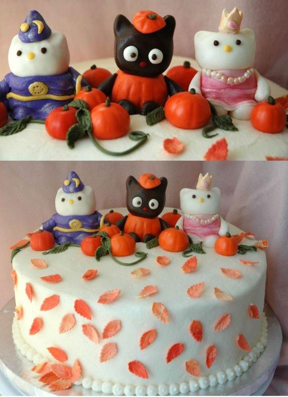 hello kitty halloween cake