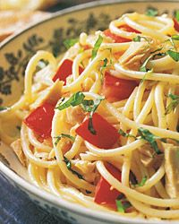 Spaghetti with Tuna and Fresh Tomato Sauce Recipe from Food & Wine