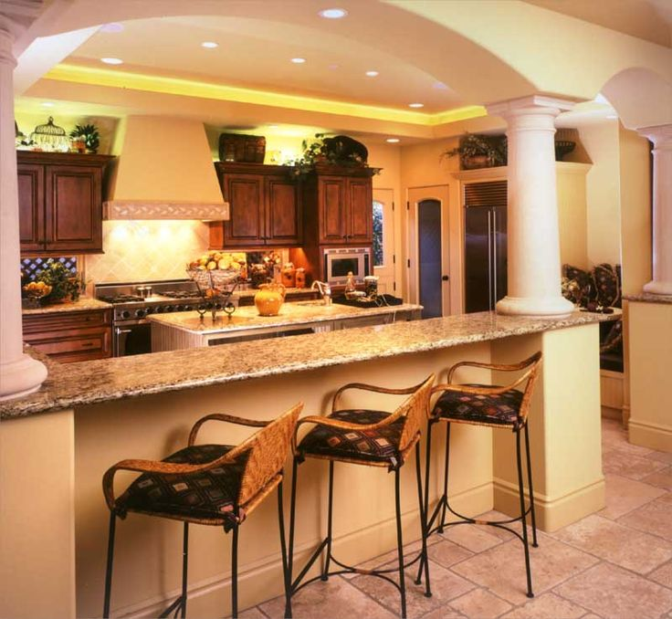 Love this kitchen but with different bar stools.
