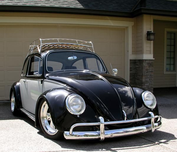 two tone black and white vw beetle volkswagens love. Black Bedroom Furniture Sets. Home Design Ideas