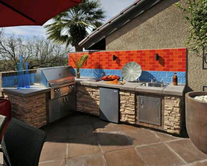 Outdoor cooking area backyard ideas pinterest for Outdoor cooking areas designs