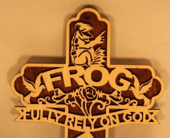 FROG Cross (Fully Rely On God) | CIN-DEES CRAFTS