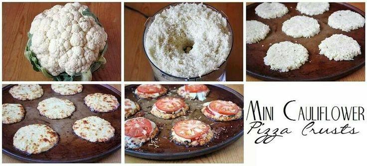 Mini cauliflower pizza crusts | recipes | Pinterest