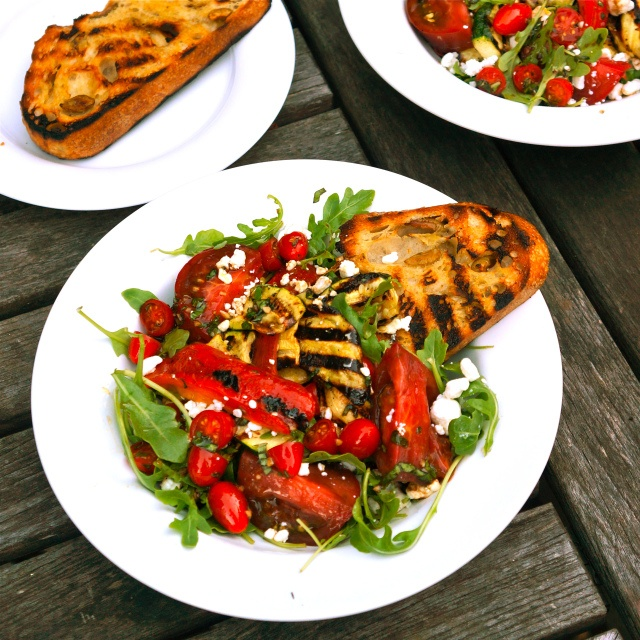 ... tomato salad stacked tomato summer vegetable and grilled bread salad