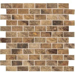 Brick tile backsplash kitchen pinterest - Backsplash that looks like brick ...