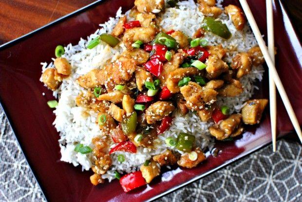 The lighter side to sesame chicken - Healthy Sesame Chicken