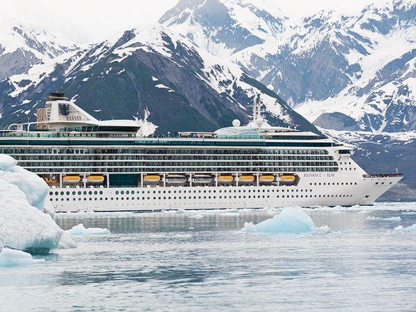 Glacier views in Alaska.